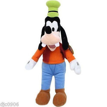 Disney Small Mickey Mouse Goofy Plush Cuddle Pillow Doll Toy-Licensed-New w/ Tag