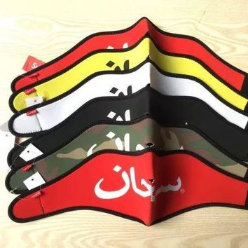 Supreme Arabic Logo Neopreme Facemask mask Face Mask ski red black white outdoor ride face masks new design 2018