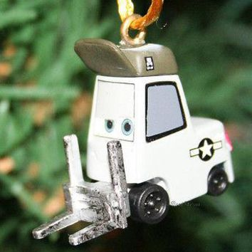 Licensed cool NEW Disney PLANES LANDING CREW FORKLIFT SPARKY Christmas Holiday Ornament PVC