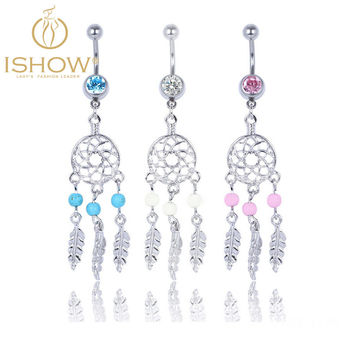 Hot Belly button rings Body Jewelry piercing ombligo Crystal Belly Navel Barbell Bar Ring Body piercing navel piercing nombril