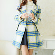 Yellow and Blue Plaid Coat
