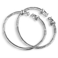 .925 Sterling Silver West Indian Bangles Bracelets