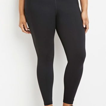 Plus Size Pocket Athletic Leggings