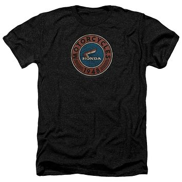 Honda Heather T-Shirt 1948 Vintage Motorcycle Oil Black Tee
