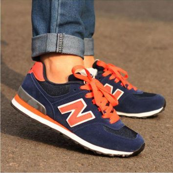 DCCKGQ8 new balance fashionable women men comfortable leisure sports shoes blue orange n