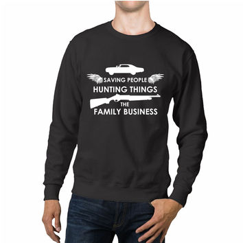 Supernatural Saving Hunting Business Quotes Unisex Sweaters - 54R Sweater