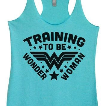 Womens Tri-Blend Tank Top - Training To Be Wonder Woman