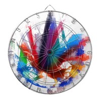 Dancing Peacock - Dart Board from Zazzle.com