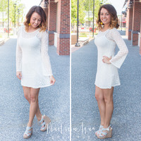 Ivory Lace Lined Dress