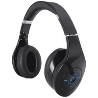 Supersonic Iq-125 Bluetooth Stereo Headphones With Microphone & Auxiliary Input (black)