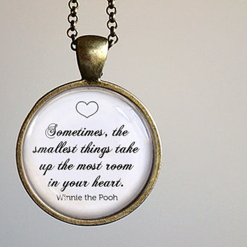 Winnie the Pooh Pendant Necklace - Pooh Jewelry
