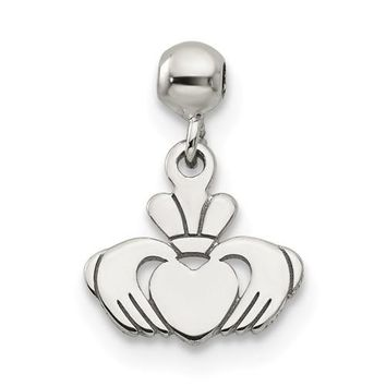 Sterling Silver Mio Memento Dangle Claddagh Charm