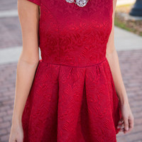 Looking Haute Dress, Red