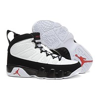 Nike Air Jordan 9 Retro Black/White Men Sneaker Shoe Size US 8-13