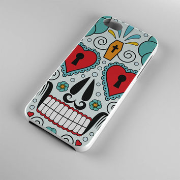 DS277-iPhone Case - Iphone 5 case-Iphone 5s case - Iphone 4 case - Iphone 4s case - Iphone Cover -Sugar Skull iPhone Case