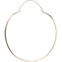 River Island Womens Gold tone textured torque necklace