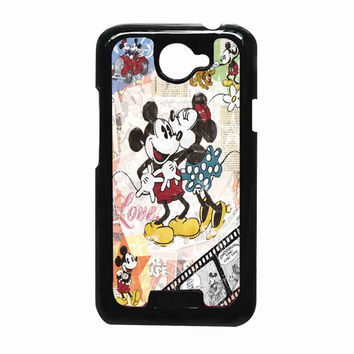Minnie and mickey mouse vintage 412d22f2-b32d-43fd-abae-dd10f85b9c89 FOR HTC One X CASE *RA*