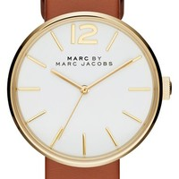 Women's MARC BY MARC JACOBS 'Peggy' Leather Strap Watch, 36mm