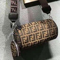 Fendi New fashion more letter retro couple shoulder bag