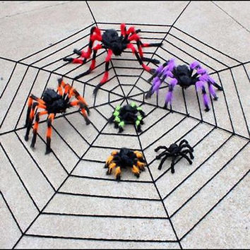 Halloween Decoration Party Supplies Spider Haunted House Prop Indoor Outdoor Plush Home Decor