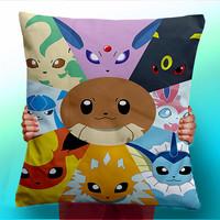 Eevee Evolution Umbreon Espion Flareon Jolteon - Cushion / Pillow Cover / Panel / Fabric