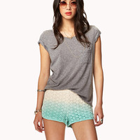 Crocheted Ombré Shorts | FOREVER21 - 2039791084