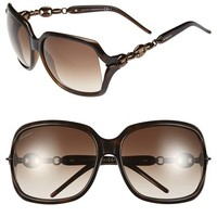 Women's Gucci 'Marina Chain' 59mm Oversized Sunglasses