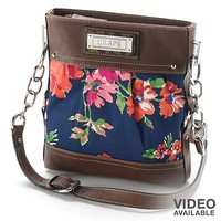 Chaps Floral Cross-Body Bag