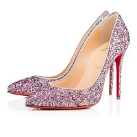 Pigalle Follies 100 Ronsard/Silver Glitter - Women Shoes - Christian Louboutin