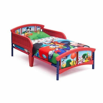 Mickey Mouse Plastic Toddler Sturdy Bed