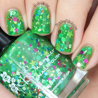 Christmas Now Green Christmas Tree Holiday Glitter Nail Polish- 0.5 oz Full Sized Bottle