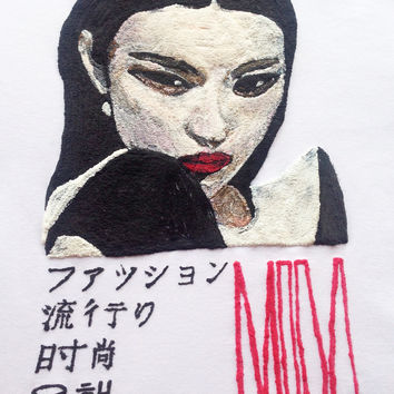 Asiatic Beauty Fashion T-shirt  Painted 3d