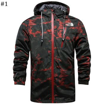 The North Face 2018 new camouflage breathable and quick-drying outdoor windproof thin zipper jacket #1