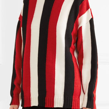 MSGM - Striped wool-blend turtleneck sweater