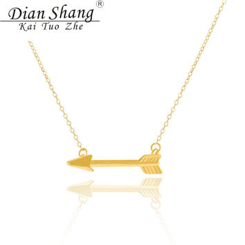 DIANSHANGKAITUOZHE BFF Charms Colar One Direction Arrow Necklaces Tattoo Choker Necklace Women Body Chain Chocker Maxi Necklace