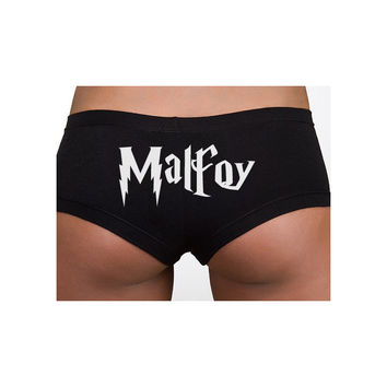Harry Potter Inspired Clothing - Intimates - Malfoy Cotton Spandex Shortie - Ladies