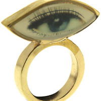 ROMWE | Eye Embellished Ring, The Latest Street Fashion