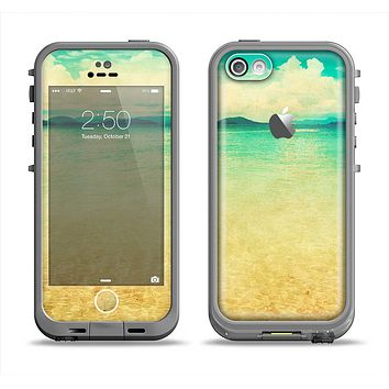 The Vintage Vibrant Beach Scene Apple iPhone 5c LifeProof Fre Case Skin Set