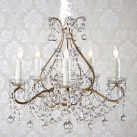 Rachel Ashwell Shabby Chic Couture Simple 5 Light Chandelier