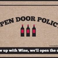 High Cotton Doormat, Open Policy Wine