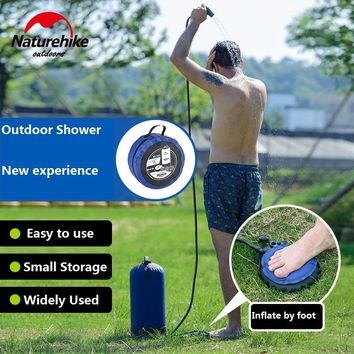 NatureHike Factory Store Outdoor Camping Hiking Shower bag inflatable Portable Folding outdoor shower bag