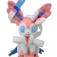 Takaratomy Pokemon Best Wishes Plush Doll - N-50 - Sylveon / Nymphia