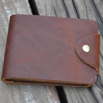 retro handmade genuine leather wallet vintage card hold gift 21