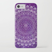Purple Mandala Phone Case, iphone X 10 8 8 plus 7, 7 plus  Samsung, geometric mandala, stars