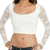 Lace Crop Top | Shop Trending Now at Wet Seal