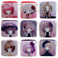 2016 Promotion Cute Girl Mini Coin Bags Women Money Pouch Wallets Female Storage Packet Kids Coin Purses