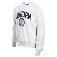 Mens Auburn Tigers Champion Gray Reverse Weave Crew Sweatshirt