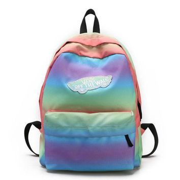 ESBON Vans Casual Rainbow School Shoulder Bag Satchel Backpack