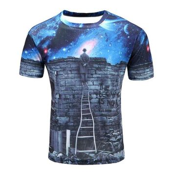 Colorful 3D Printed High Quality Tees #ladder1