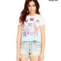 High-Waisted Destroyed Light Wash Denim Shorty Shorts